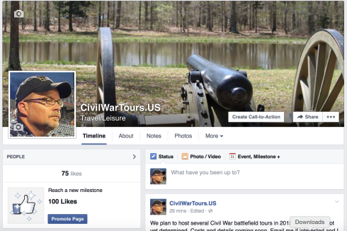 Check out the Civil War battlefield tours CivilWarTours.US is hosting this year.